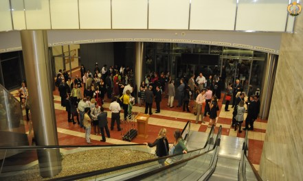 Evening meeting in the hotel hall before the gala dinner. Photo B.Gorgoglione.