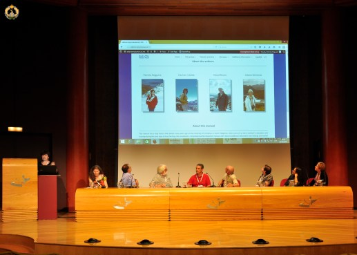 Patricia Noguera launching the Fish Necropsy Manual during the EAFP General Assembly 2015 in Las Palmas.