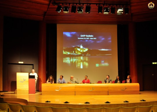 Roy Palmer, the former EAFP Bulletin Editor, presenting during the General Assembly 2015 in Las Palmas