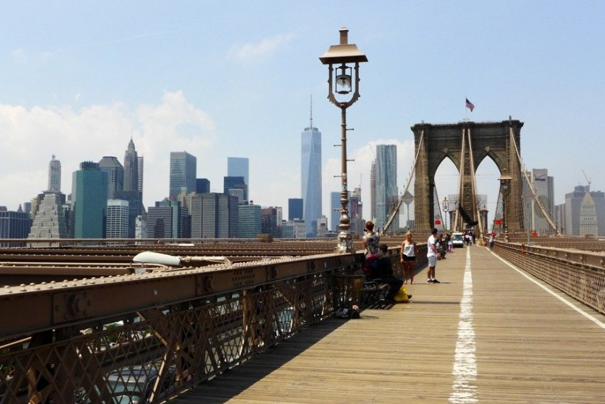 Brooklyn Bridge Pedestrian Walkway; New York City