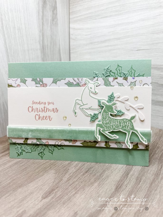 Deer Punch Handmade Christmas Card