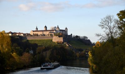 Main River and the Wuerzburg Castle in autumn