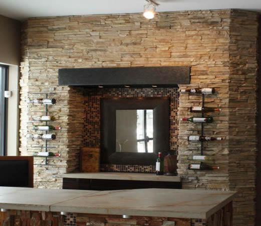 Santa Fe Ledgestone Fireplace