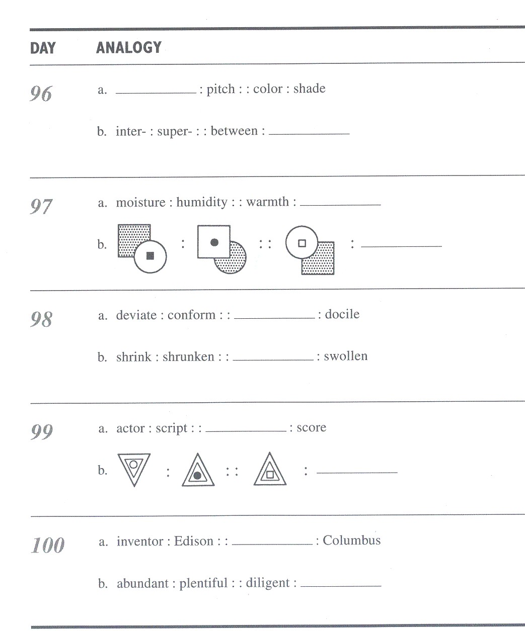 Finish Mystery Worksheet