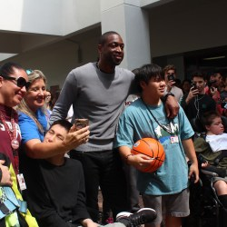 Miami Heat basketball player Dwyane Wade visits MSD campus. Photo by Kyra Parrow