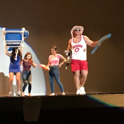 Robert Mandachescu struts on stage at the Mr. Douglas pageant. Photo by Mallory Muller