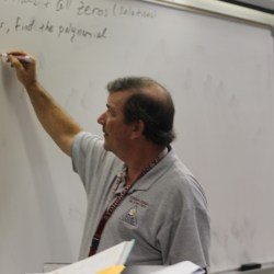 Jim Gard teaching his class