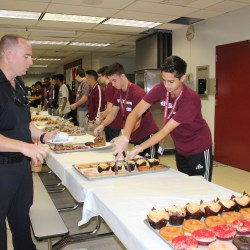 Giving Back. MSD students serve breakfast to first responders on Feb. 14, 2019. Photo by Hannah Kapoor