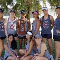 Women's varsity tennis team defeats St. Thomas Aquinas School at district tournament