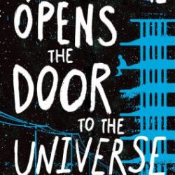 "Cover for Preston Norton's novel, ""Neanderthal Opens the Door to the Universe"""