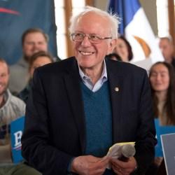 U.S. Senator and Democratic presidential candidate Bernie Sanders holds a town hall in Perry, Iowa, on January 26, 2020. (Brian Cahn/Zuma Press/TNS)