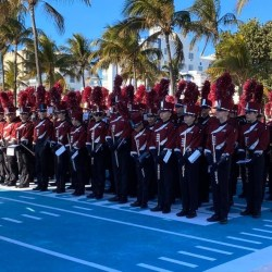 Eagle Regiment performs at Super Bowl