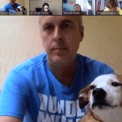 Teachers Jeff Foster and Ronit Reoven host 'Tea Time' Zoom call