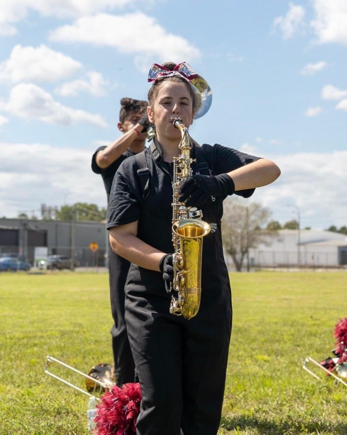 Sophomore Nicolette Gulla, is preparing to perform at the Orlando Bands of America performance. Photo courtesy of Keith Wechsler.