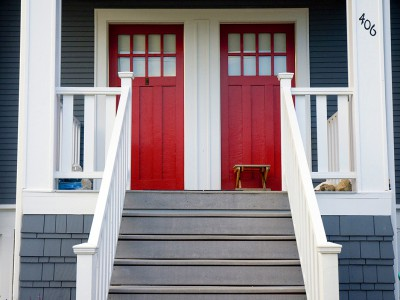 Accent front doors
