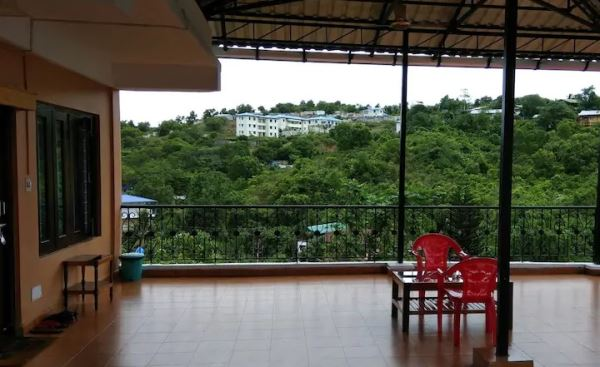 View and the terrace, Dutta's Residency