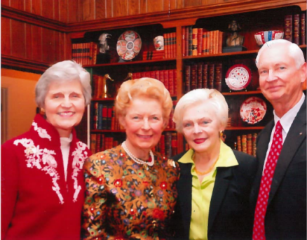 Eunie Smith, Phyllis Schlafly, Mrs. Mary Anne Bradford, Mr. Tom Bradford - hosts of an Evening with Phyllis on 12/3/07.