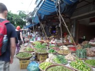 The market in Hanoi