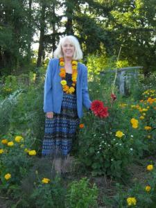 Ellen in her garden