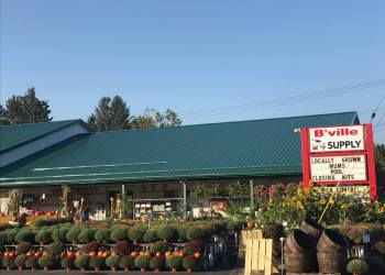 B'ville Supply, Inc., is celebrating 100 years in business. The store sells lawn and garden supplies, birdseed, pet food, propane and other items for gardeners and homeowners.