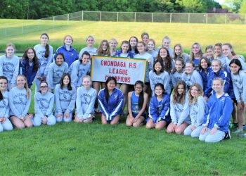 Cazenovia's girls track and field team beat Altmar-Parish-Williiamstown 104-37 on May 27 to finish a 6-0 regular season. The Lakers earned the OHSL Liberty National division title, with the senior class having never lost a meet (16 in a row) dating back to 2018.