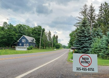 Nearly every home along Salt Springs Road in Manlius has a sign either for or opposed to a proposed $9.2 million water project to bring publicwater to the area. (photo: David Tyler)