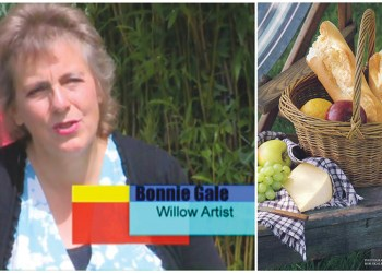 Willow weaver Bonnie Gale will teach a two-day basketry class under a tent on the Gleason Mansion lawn next to the Liverpool Willow Museum, in Liverpool on Aug. 14 and 15. (Courtesy of Bonnie Gale)