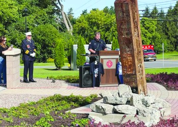 The Manlius Village Board recently discussed the village's 9/11 memorial and future plans to further enhance the site. (Submitted)