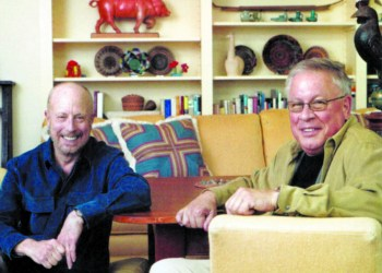 Recently, John David Hunter (right) announced the closing of J.D. Hunter/home, the fine furnishings/interior design store he opened on Albany St with his late partner, Bob Winston (left). (Submitted)