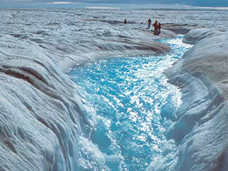 a shrinking ice sheet in Greenland