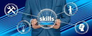 Businessman offering training in skills