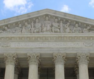 Equal Justice Under the Law is inscribed on the edifice of the US Supreme Court