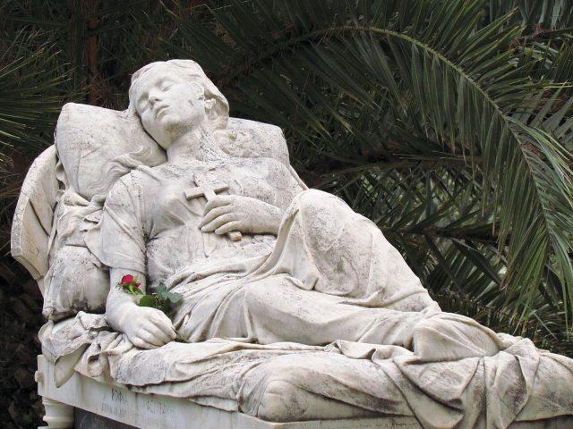 "Photo of sculpture, ""Sleeping Beauty"""
