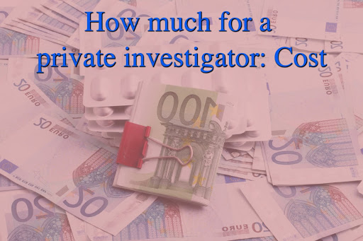 How much for a private investigator: Cost