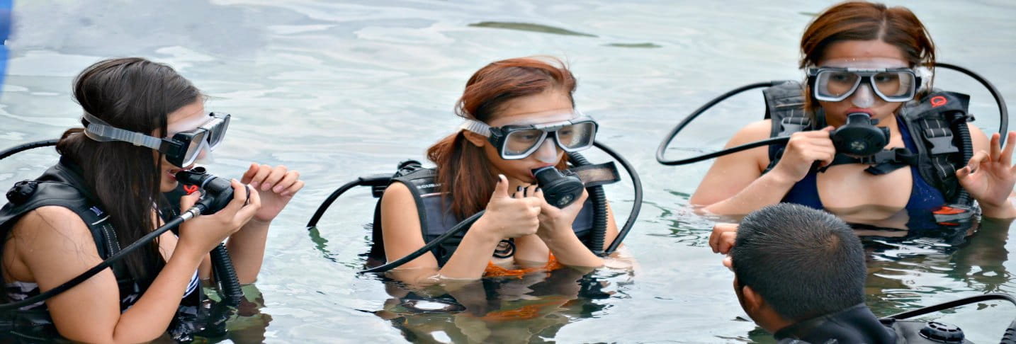Leaning Snorkeling
