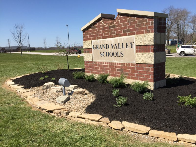 Grand Valley Local Schools Campus Entrance Landscaping
