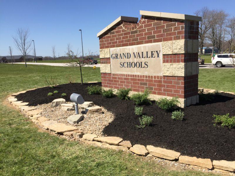 Grand Valley Local Schools Campus Entrance Landscaping