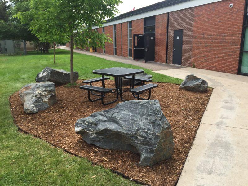 Barrier Wall at Arapahoe High School in Littleton, CO