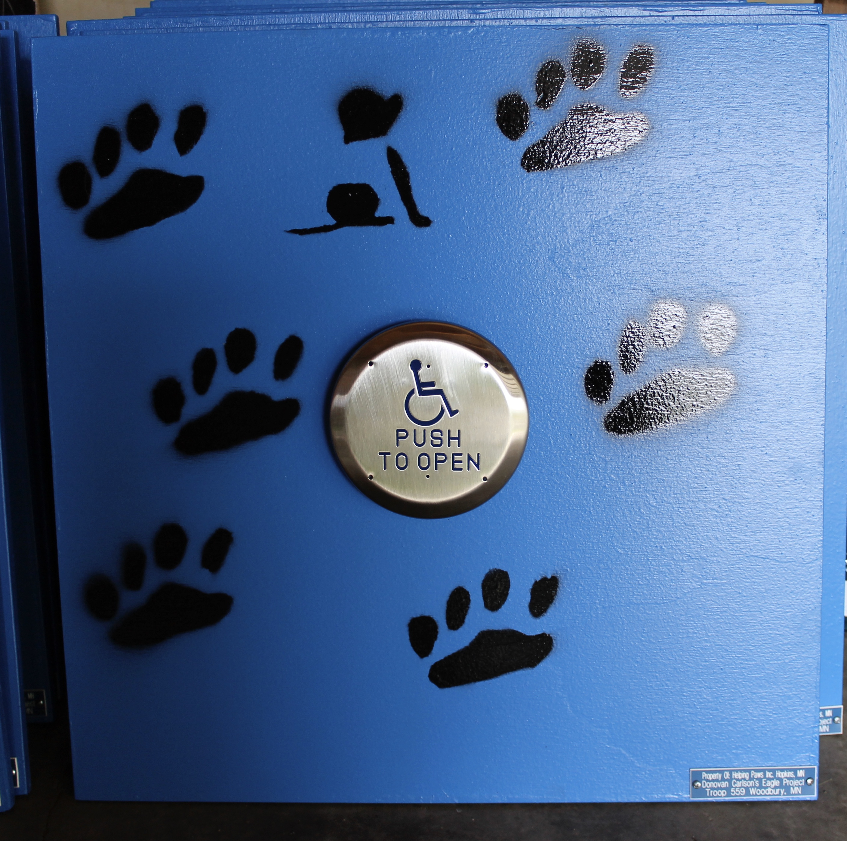 Made training boards for dog trainers to take home for puppies they are training as service dogs for those in need.