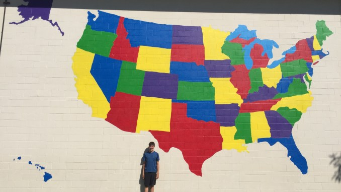 Us Map Mural.Painted A Us Map Mural Eagle Scout Project Showcase