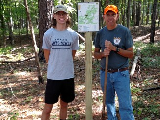 Put maps along the Long Cane Horse Trail