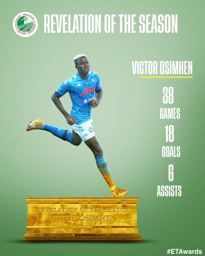 Victor Osimhen wins Nigerian Revelation of the Season Award