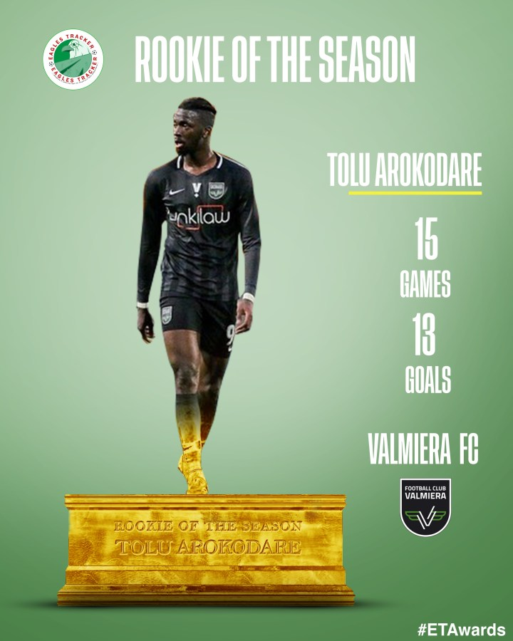 Tolu Arokodare wins Nigerian Rookie of the Season Award