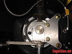 Front hub and brake bracket assembly