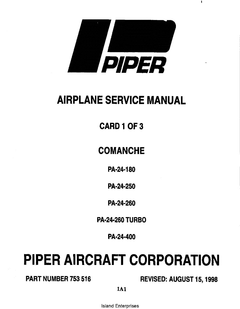 Cessna Model R182 & TR182 Series 1978 thru 1986 Service Manual