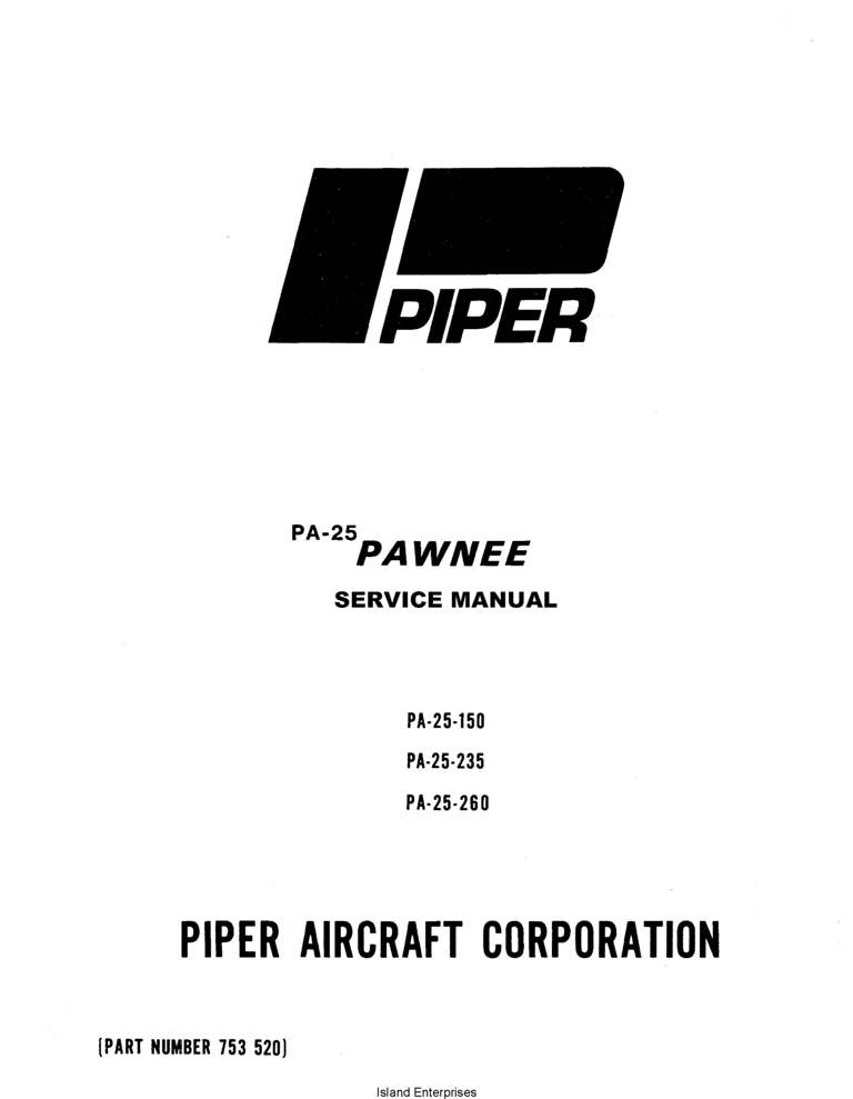 Piper Twin Comanche Service Manual PA-30/PA-39 Part # 753-645