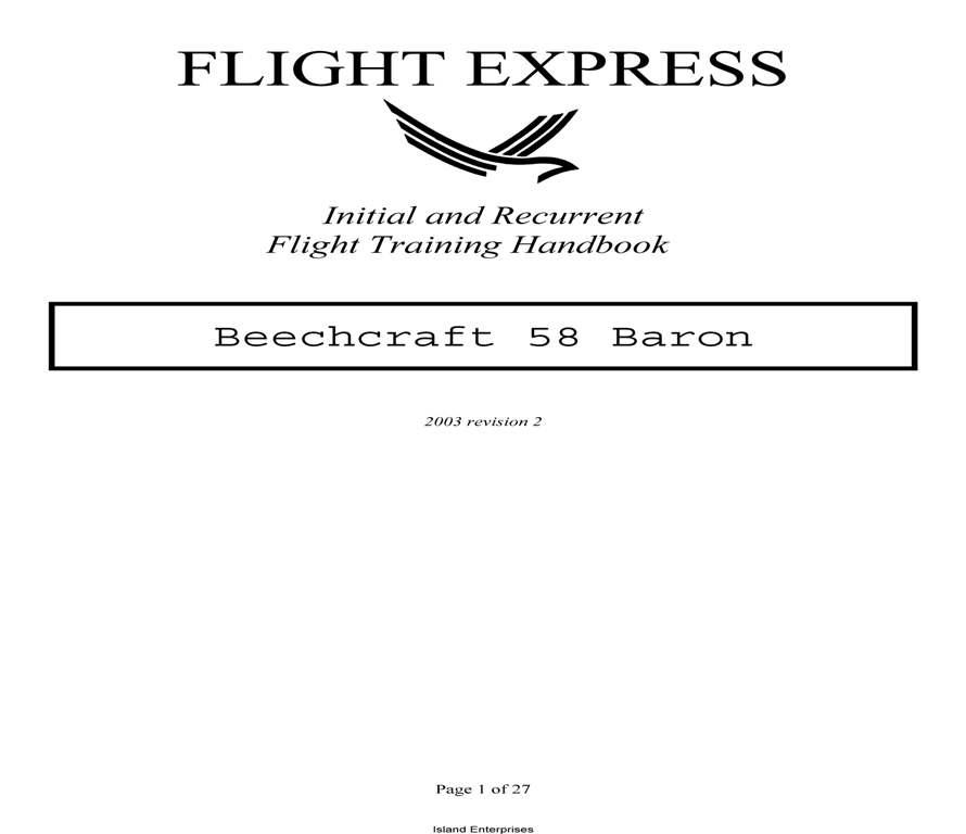 Beech Baron 55 parts manual on