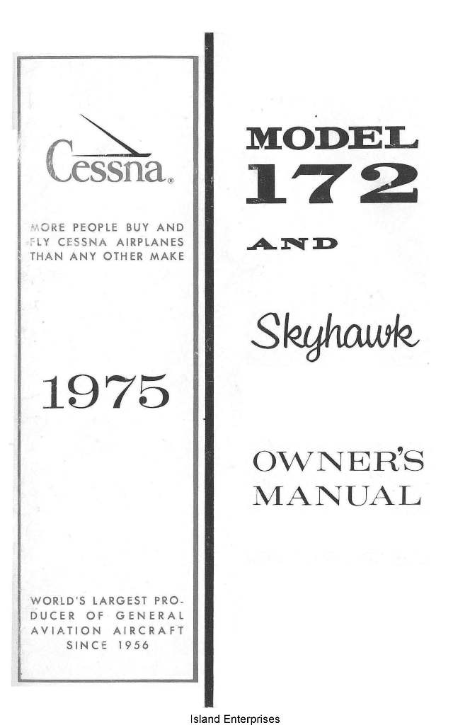 Cessna Model 172 and Skyhawk Owner's Manual 1975