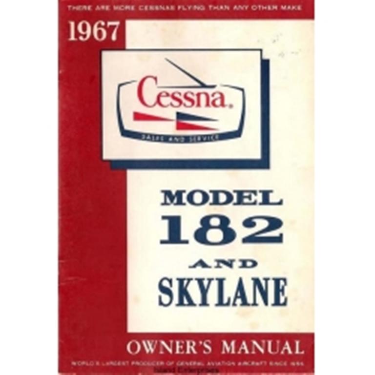 1967 Cessna 182 Service Manual Aa Control Console