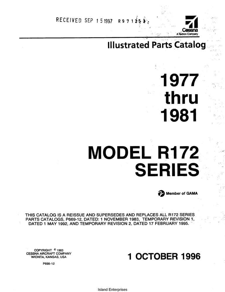 Cessna 402 Parts manual